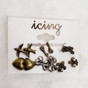Icing NWT Sensitive Solutions Earring Set